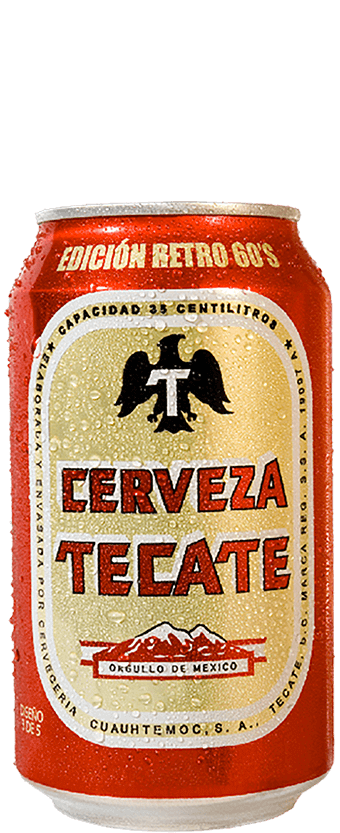"1960 presentation of Tecate Original. The first ever ""easy open"" can in Mexico."